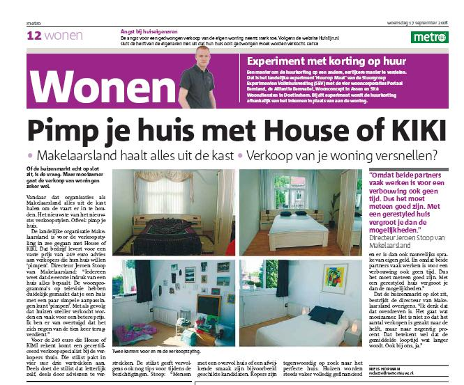 Artikel_Metro_HouseofKIKI_Makelaarsland